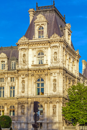 ville: Office of Mayor of Paris - Hotel de Ville, France Stock Photo