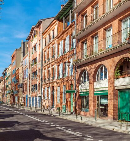 toulouse: Typical street view in old town, Toulouse, France