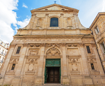 saint paul: Dominican Eglise Saint Paul, baroque style, Bordeaux, France Stock Photo