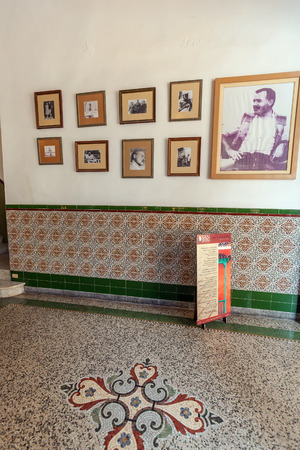 hemingway: HAVANA, CUBA - APRIL 2, 2012: Exhibition of writer Ernest Hemingway inside Hotel Ambos Mundos, where he lived  from 1932 till 1935 l