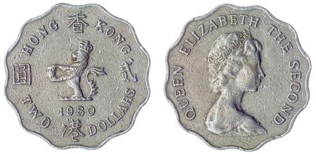 Kupfer Nickel 1 Dollar 1991 Münze Isoliert Auf Weißem Hintergrund