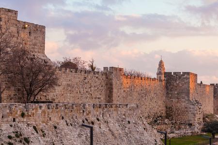 citadel: Ancient Citadel inside Old City, Jerusalem, Israel Editorial