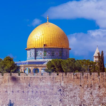 jewish home: Al-Aqsa Mosque on Temple Mount of Old City, Jerusalem