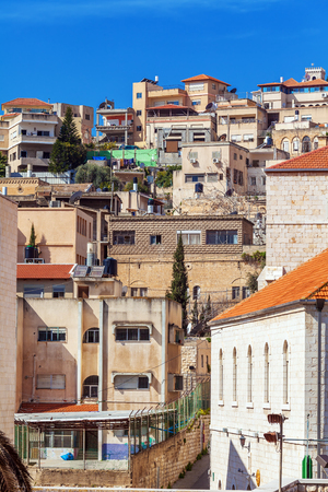 ancient near east: Roofs of Old City in Nazareth, Israel