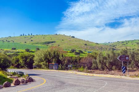 Landscape around Galilee Sea - Kinneret Lake, Israel Stock Photo