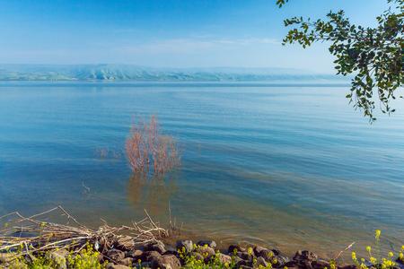 galilee: Landscape around Galilee Sea - Kinneret Lake, Israel Stock Photo