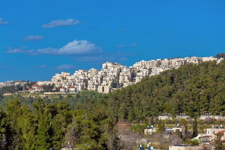 jewish home: Jerusalem modern apartment houses, Israel