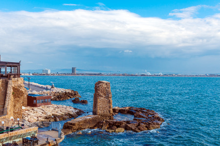 acre: Remains of Ancient Harbor Wall, Acre, Israel