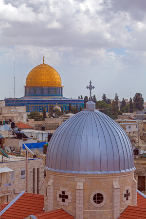 old city: Jerusalem Old City from Austrian Hospice Roof, Israel