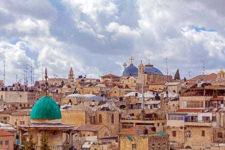 jewish home: Jerusalem Old City from Austrian Hospice Roof, Israel