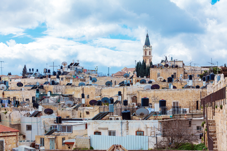 jewish home: Jerusalem Old City Roofs, Israel