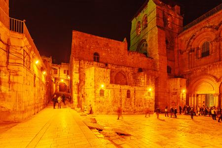 sepulchre: Holy Sepulchre Cathedral at Night, Jerusalem, Israel