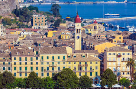 kerkyra: Aerial view from Old fortress on the Corfu city