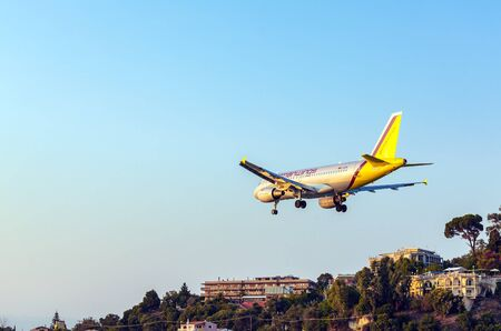 avia: CORFU AIRPORT, GREECE - JULY 9, 2011: Airbus A319 of Germanwings company at the airport Corfu Editorial