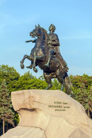 peter the great: Monument to tsar and imperator Peter I the Great (The Bronze Horsemen), St. Petersburg. Russia Editorial