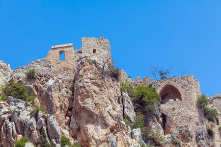 crusade: Saint Hilarion Castle in Kyrenia mountain range, North Cyprus