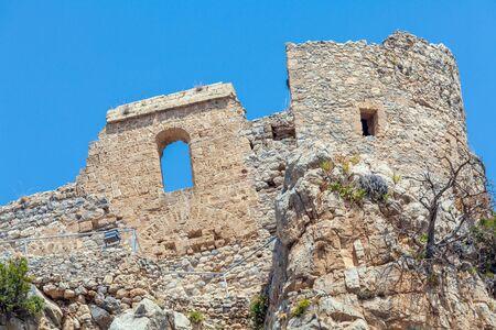 st hilarion: Saint Hilarion Castle in Kyrenia mountain range, North Cyprus