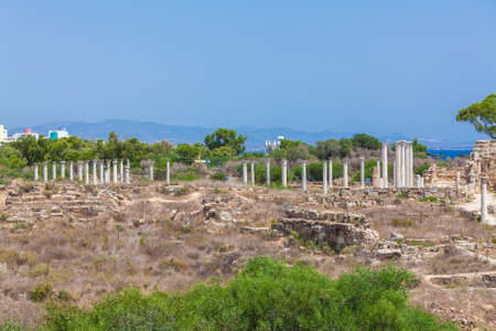 Ruins of Salamis, Famagusta aeria, North Cyprus Stock Photo
