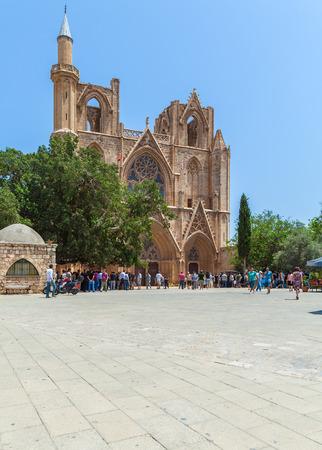 saint nicolas: Lala Mustafa Pasha Mosque (Saint Nicolas Cathedral) (1298-1400), Famagusta, North Cyprus Editorial