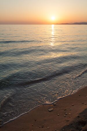 sithonia: Sunset in Sithonia, Chalkidiki, Greece Stock Photo