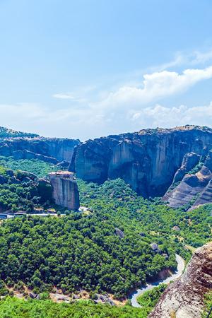 thessaly: Roussanou monastery, Meteora, Thessaly, Greece Stock Photo