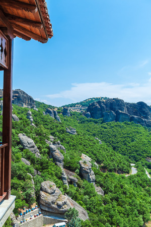 thessaly: View from The Holy Monastery of Varlaam, Meteora, Thessaly, Greece