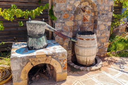 rakia: Old Rakia Spirit Production Machine, Crete, Greece