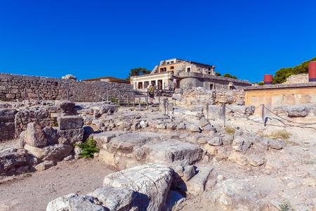 Knossos Palace Ruins, Heraklion Crete, Greece Stock Photo