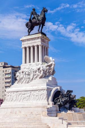 maximo: Statue of General Maximo Gomez in the center of old city, Havana, Cuba Editorial