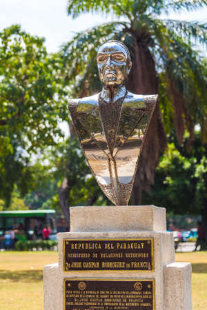 HAVANA, CUBA - APRIL 1, 2012: Monument of Paraguayan lawyer de Francia in the center of city