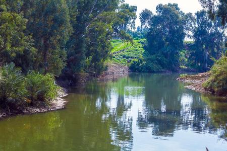 baptismal: Shores of Jordan River at Baptismal Site, Israel