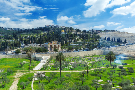 Church of All Nations and Mary Magdalene Convent on the Mount of Olives, Jerusalem, israel