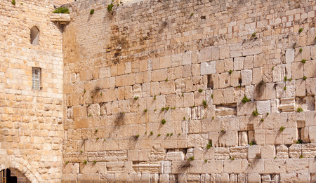 hasidism: Western Wall of ancient Temple, Jerusalem, Israel