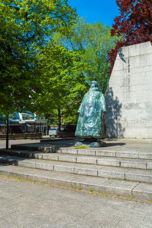 HAGUE, NETHERLANDS - APRIL 4, 2008: Statue of Queen Wilhelmina near Noordeinde Palace
