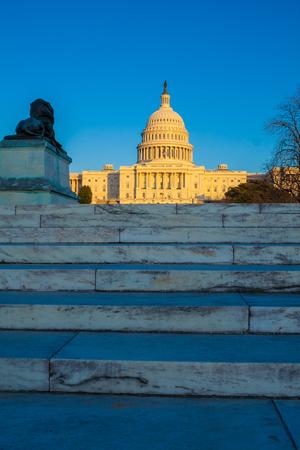 congressman: Capitol Building before sunset, Washington DC, USA