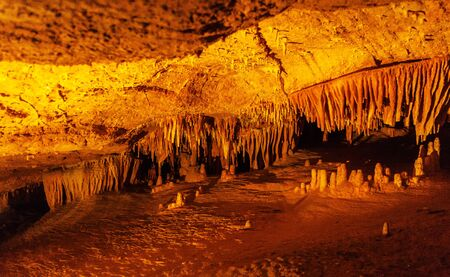 realm: Stalactites and stalagmites of Luray cave, Virginia, USA