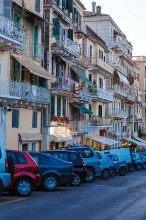 ionian: Typical buildings in old city, Kerkyra, Corfu island, Greece