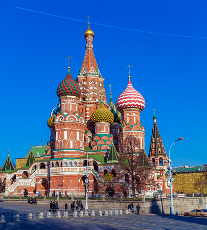 The Cathedral of Vasily the Blessed or Saint Basils in the Red Square in Moscow, Russia