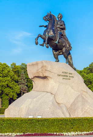 peter the great: Monument to tsar and imperator Peter I the Great (The Bronze Horsemen), Saint Petersburg. Russia