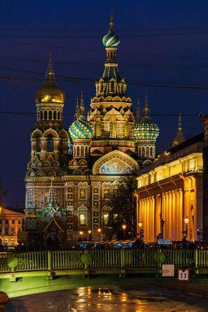savior: The Church of the Savior on Spilled Blood at night, Saint Petersburg, Russia