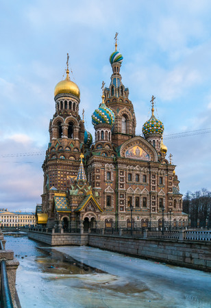 The Church of the Savior on Spilled Blood at winter, Saint Petersburg, Russia Stock Photo
