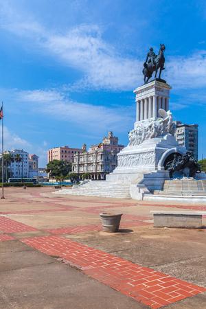 gomez: Statue of General Maximo Gomez in the center of old city, Havana, Cuba Stock Photo