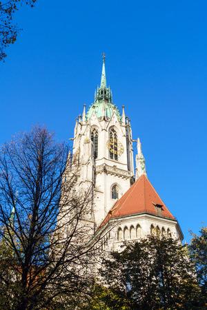 St. Pauls Church near Theresianwiese, where Octoberfest placed, Munich, Germany