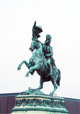 Equestrian statue of Archduke Charles of Austria (1860) on Heldenplatz, Vienna, Austria