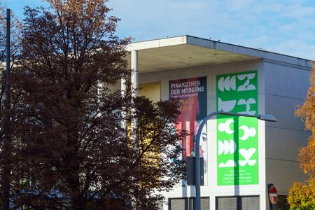 Munich, Germany - October 20, 2017: Building of Pinakothek der Moderne, modern art museum