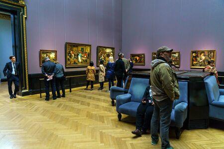 Vienna, Austria - October 22, 2017: Pieter Brueghel the Elder hall in Kunsthistorisches Museum or Museum of Art History