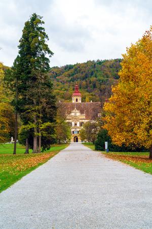 Eggenberg Baroque Palace or Schloss (1625) near Graz, Styria, Austria