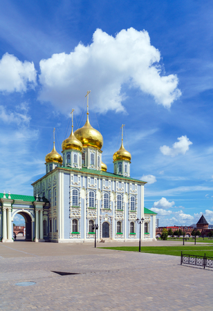 Assumption Cathedral (1762-1766) in baroque style in the Kremlin of Tula city, Russia Banque d'images