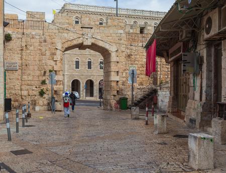 New Gate and Bab El-Jadid street, Jerusalem, Israel