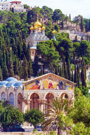 Mary Magdalene Convent on the Mount of Olives, Jerusalem, israel 版權商用圖片
